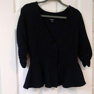 Peplum 3 button sweater
